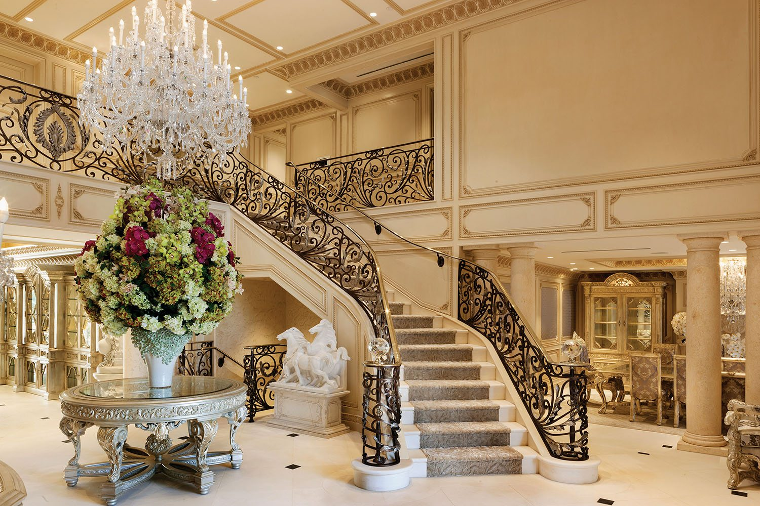 Inside the most elegant beverly hills french chateau for Inside in french