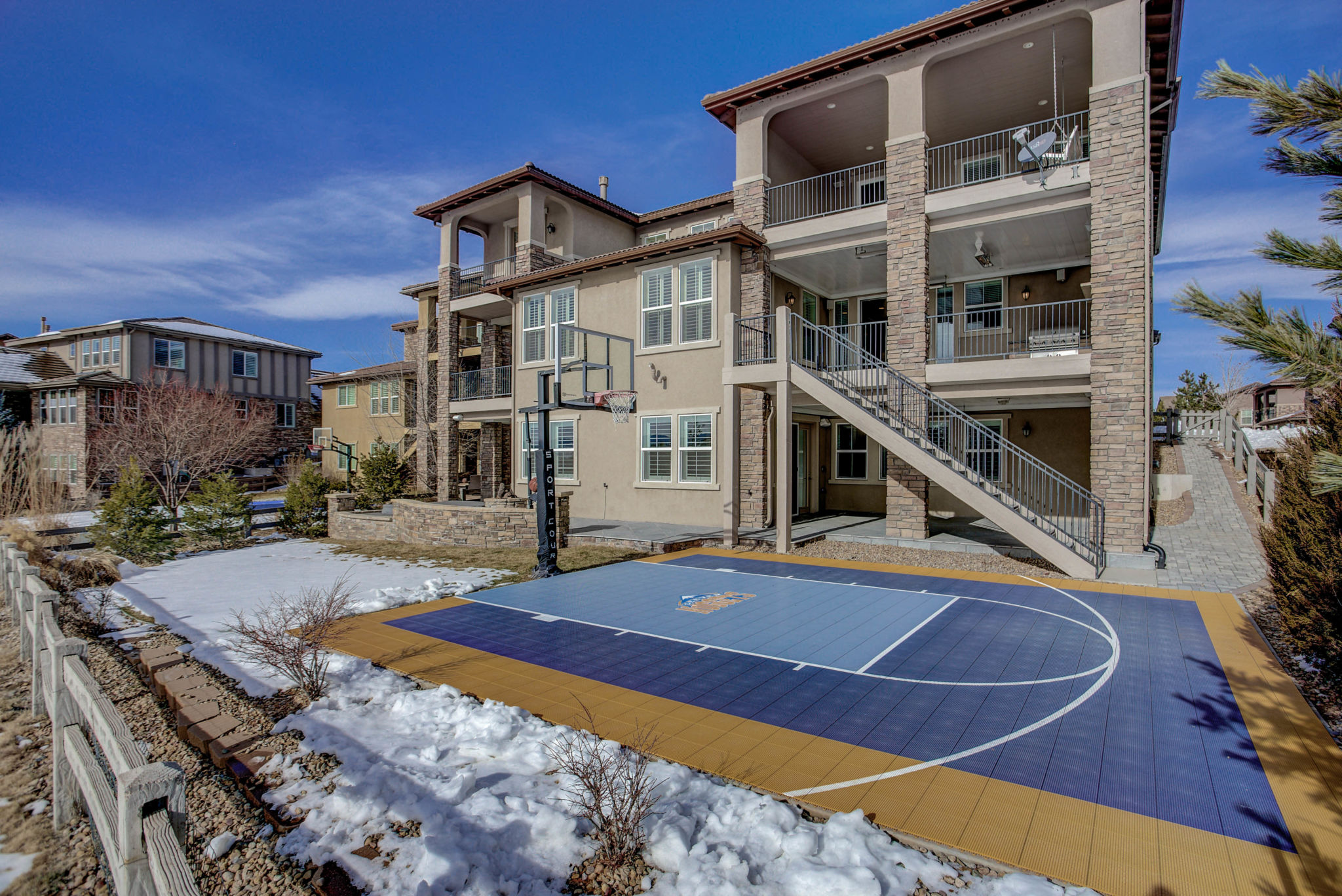 Hoop It Up At Home Basketball Court Designs California Home