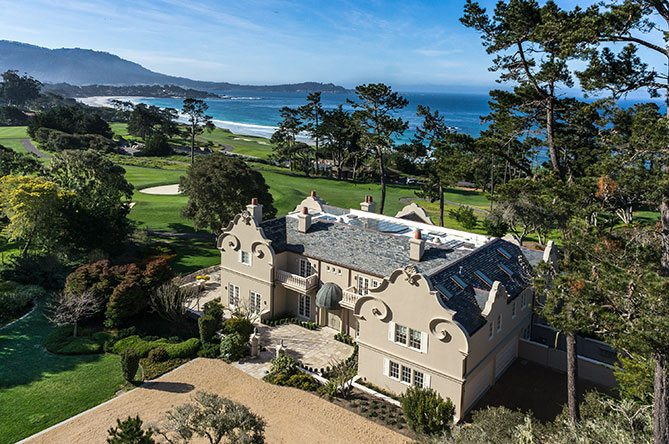 extraordinary home of the week pebble beach golf course estate, homes for sale on pebble beach golf course, homes on pebble beach golf course for sale, house for rent on pebble beach golf course