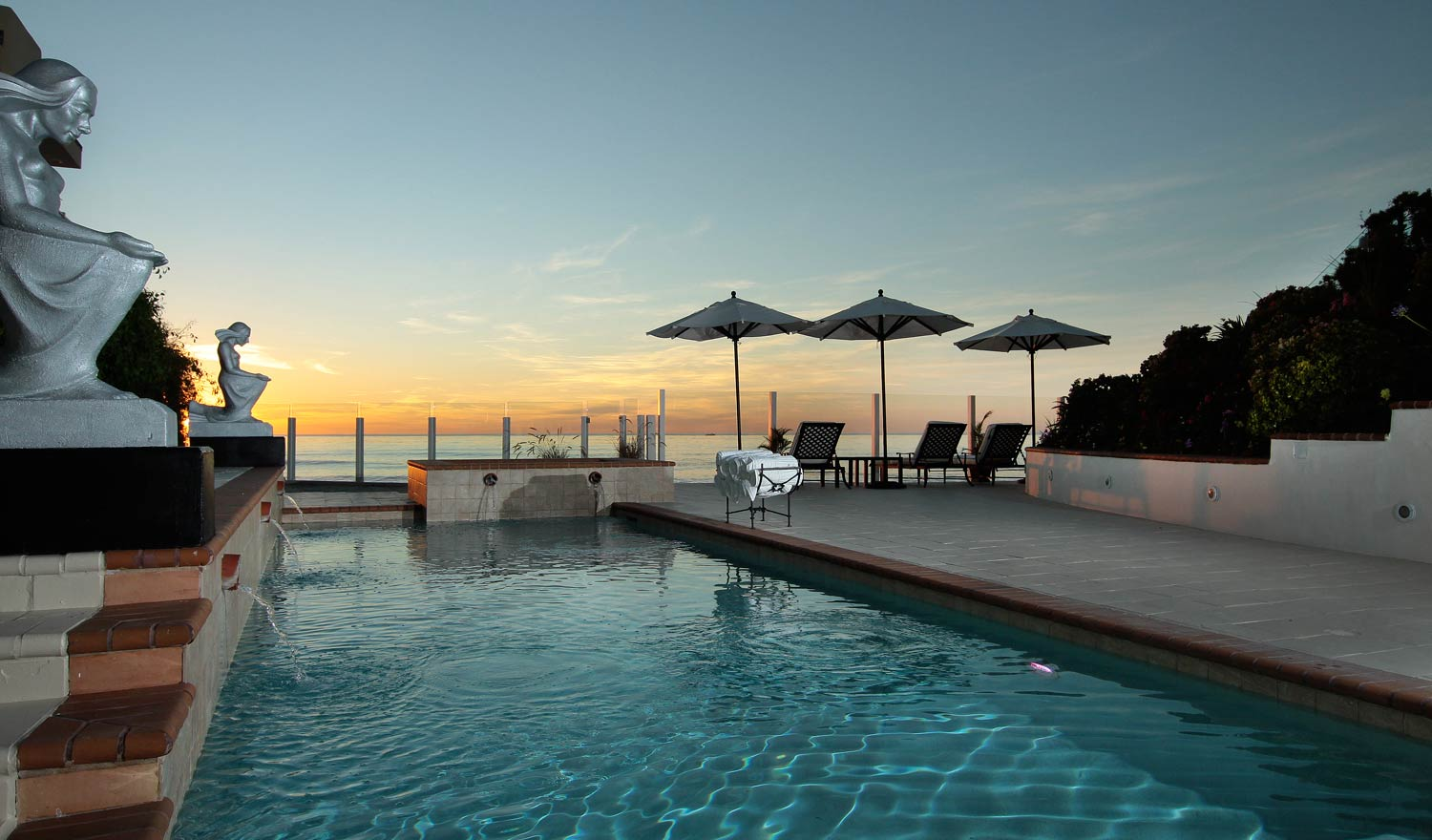 When high tide comes in, post up poolside and take a refreshing dip in the resort-style pool.