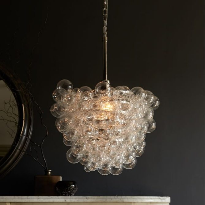 Elegant One of the great advantages of pendant lights over chandeliers is the great array of materials and finishes available Just some of the materials used are