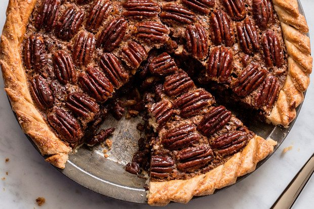 7 Sweet Alternatives to Traditional Thanksgiving Pumpkin Pie: Pecan pie with rum, espresso, and brown butter