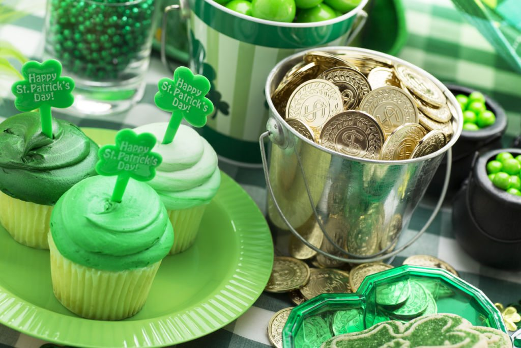 This is a close up photo of a St. Patricks Day Party.