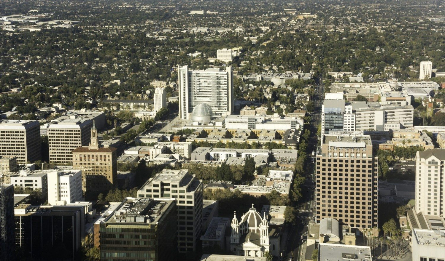 A view of the downtown area of San Jose California.