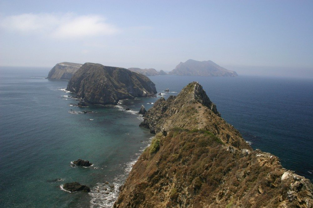 Image of the chain of islands in Channel Islands National Park, California.