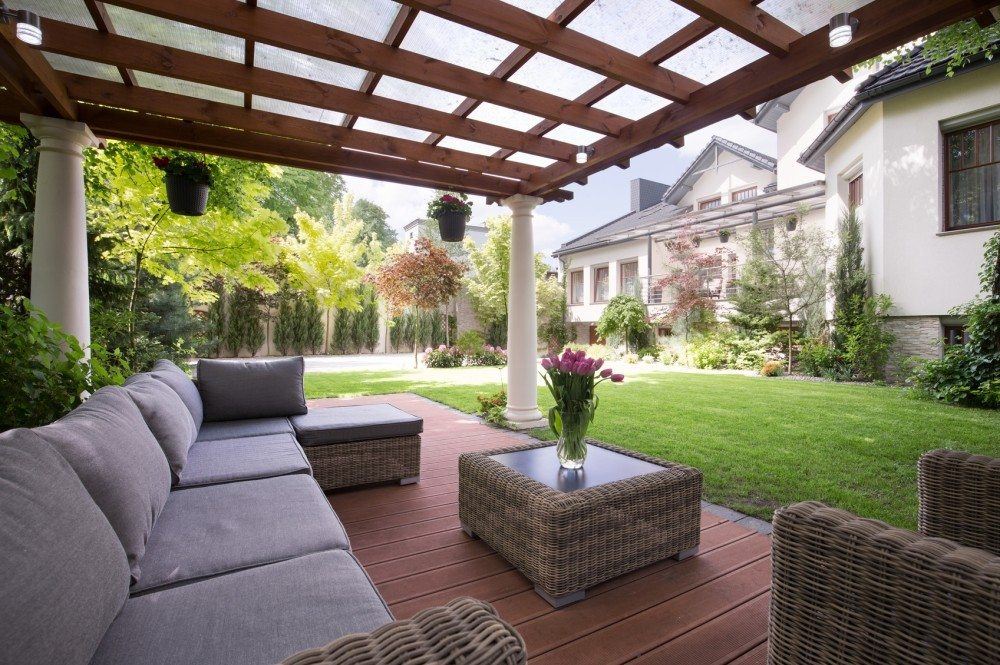 Photo of luxury garden furniture at the patio