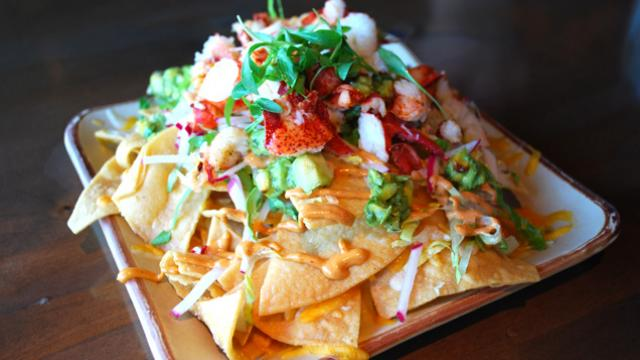 Lobster nachos from The Pony Room